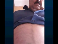 beautiful and horny turkish grandpa show his bulge