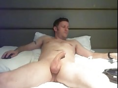 english dad showing off his hung cock