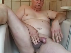 Dutch chubby gay jerking off
