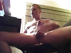 Gooner Daddy Jerks Off His Cock and Cums a Load