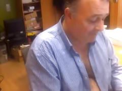 Daddy show cock on work