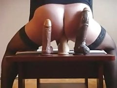 Good ride on 8-10 and 12 inches dildo cock