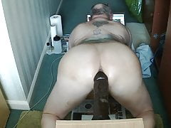 Christening my New toy a 10 inch Big Brown thick  dildo